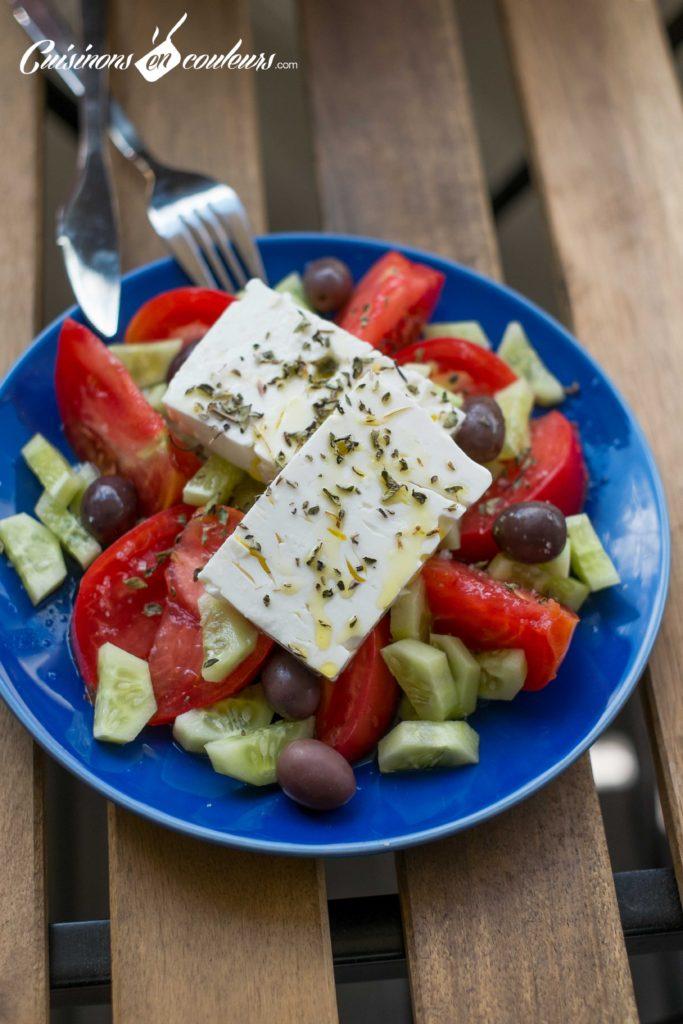 Salade-grecque-7-683x1024 - Salade grecque à la feta