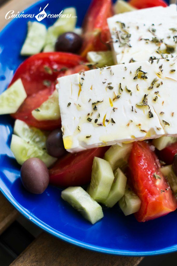 Salade-grecque-8-683x1024 - Salade grecque à la feta