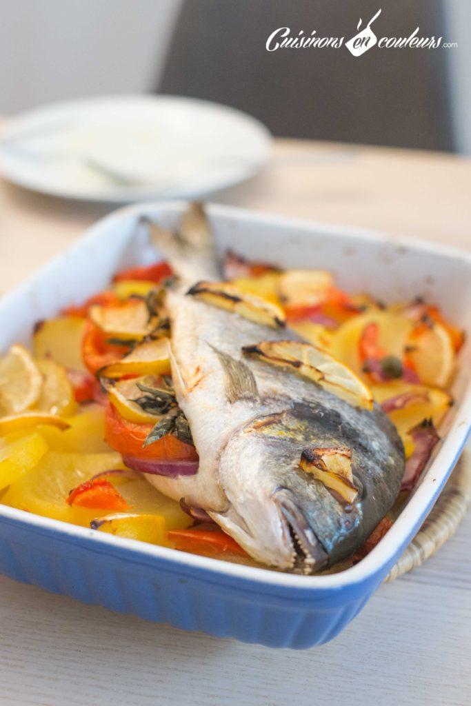 Daurade-aux-legumes-7-683x1024 - Daurade et légumes au four