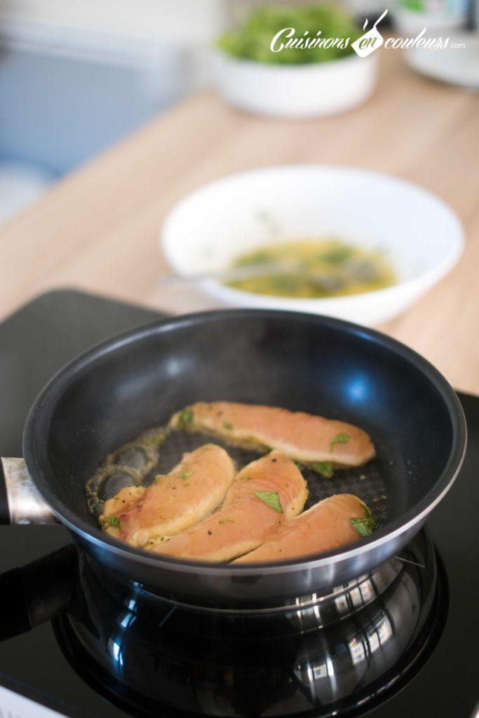 Salade-de-poulet-au-miel-5-683x1024 - Salade de poulet mariné au citron vert et au miel