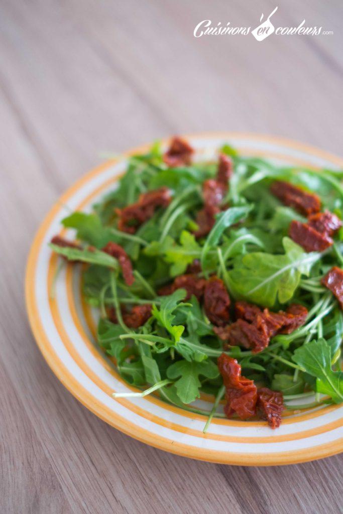 Salade-de-poulet-au-miel-6-683x1024 - Salade de poulet mariné au citron vert et au miel