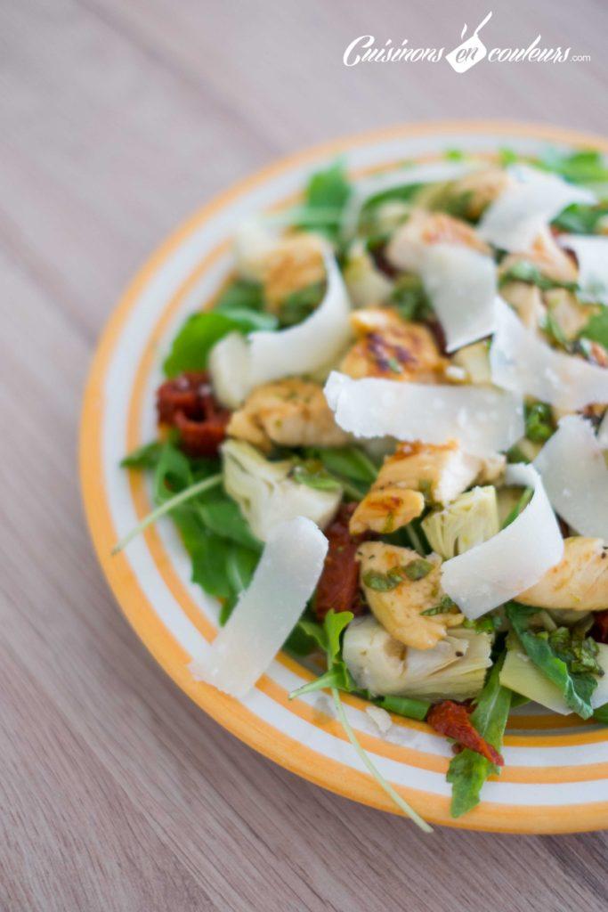 Salade-de-poulet-au-miel-7-683x1024 - Salade de poulet mariné au citron vert et au miel