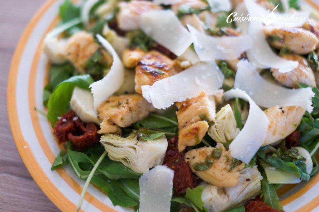Salade-de-poulet-au-miel-9-1024x683 - Salade de poulet mariné au citron vert et au miel
