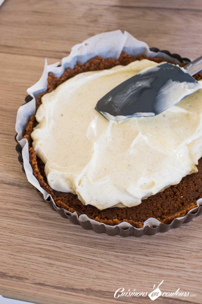 tarte-cheesecake-6-683x1024 - Tarte façon cheesecake aux prunes