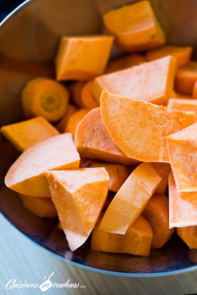 veloute-patate-douce-683x1024 - Velouté de patate douce et carottes au lait de coco