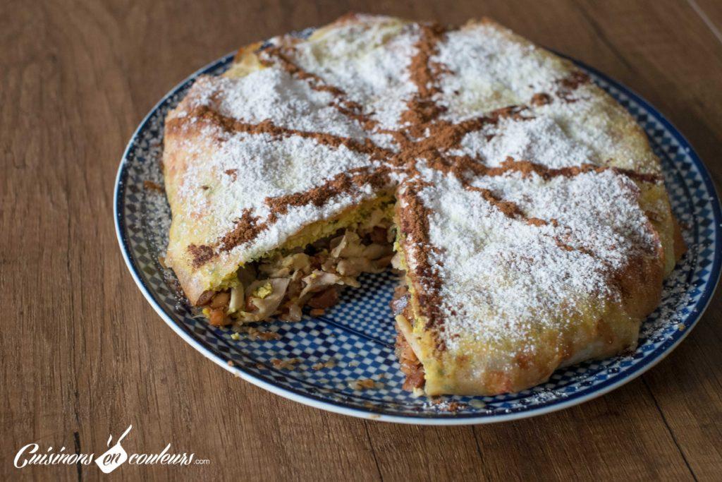 pastilla-au-poulet-6-1024x683 - Pastilla au poulet et aux amandes