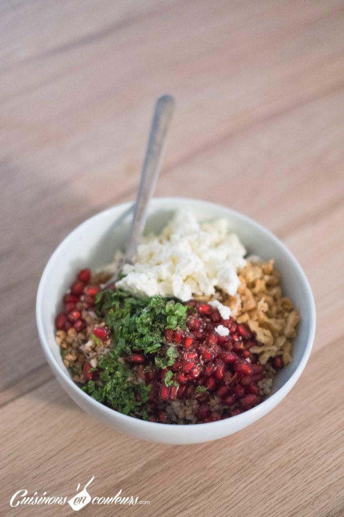 Taboule-de-sarrasin-2-683x1024 - Salade de sarrasin grillé à la feta, grenade et menthe