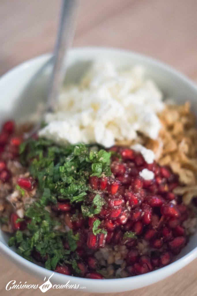 Taboule-de-sarrasin-3-683x1024 - Salade de sarrasin grillé à la feta, grenade et menthe