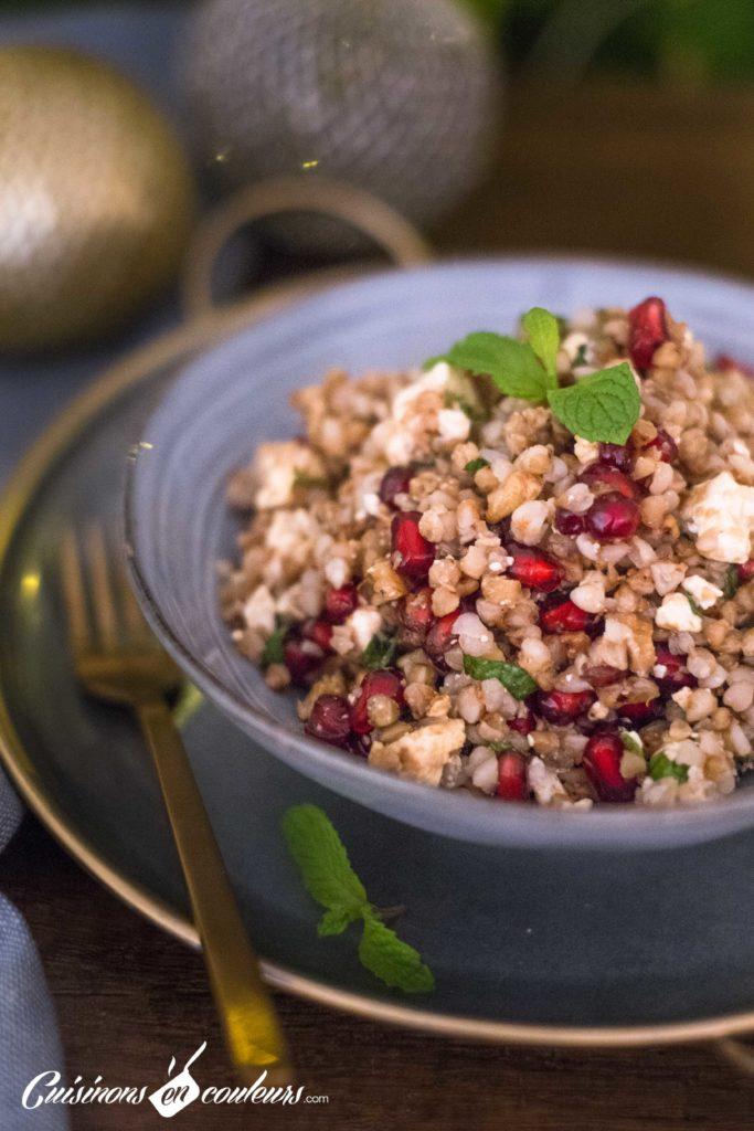 Taboule-de-sarrasin-7-683x1024 - Salade de sarrasin grillé à la feta, grenade et menthe