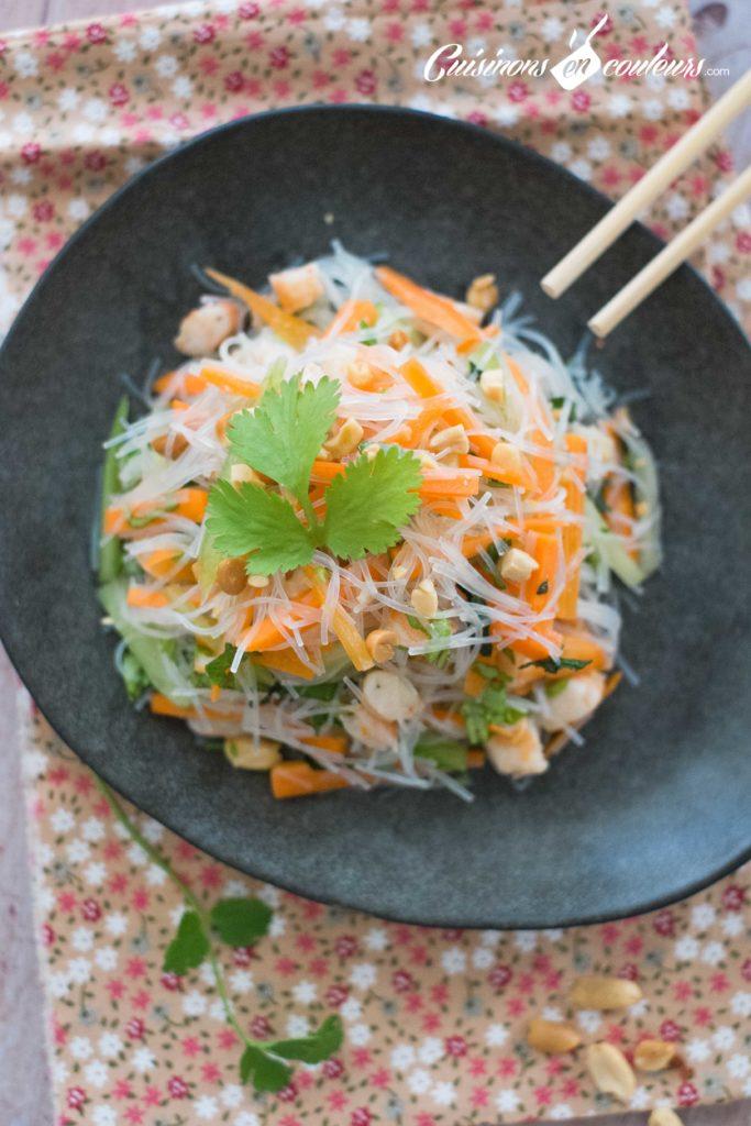 Salade-crevettes-vermicelles-5-683x1024 - Salade de crevettes et vermicelles