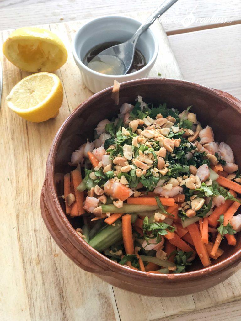 Salade-crevettes-vermicelles-8-768x1024 - Salade de crevettes et vermicelles