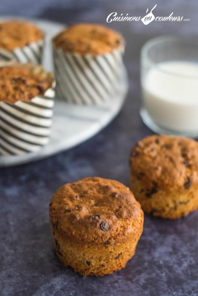 Muffins-chocolat-6-683x1024 - Muffins aux pépites de chocolat