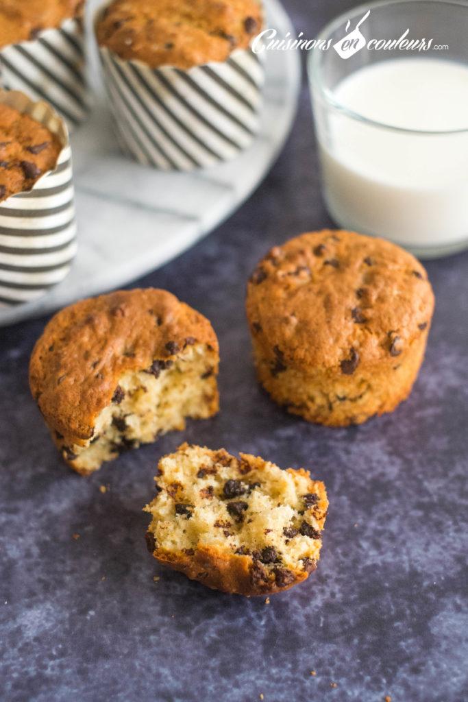Muffins-chocolat-9-683x1024 - Muffins aux pépites de chocolat