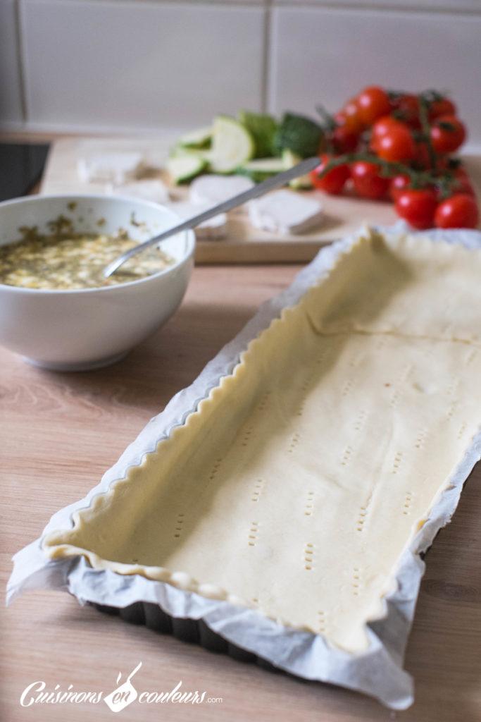 Quiche-tomates-5-683x1024 - Quiche aux tomates cerises, courgette et fromage de chèvre