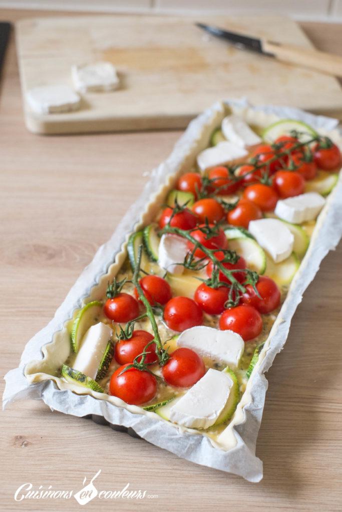 Quiche-tomates-6-683x1024 - Quiche aux tomates cerises, courgette et fromage de chèvre