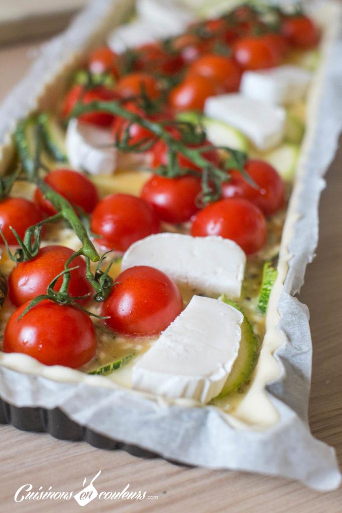 Quiche-tomates-7-683x1024 - Quiche aux tomates cerises, courgette et fromage de chèvre