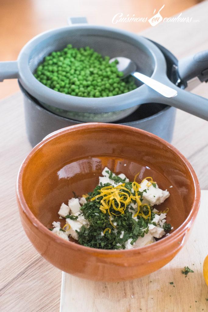 Salade-de-petits-pois-2-683x1024 - Salade de petits pois à la feta, zestes de citron et menthe