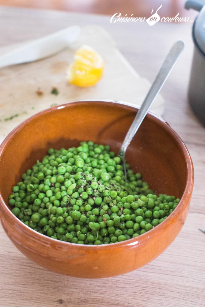 Salade-de-petits-pois-3-683x1024 - Salade de petits pois à la feta, zestes de citron et menthe
