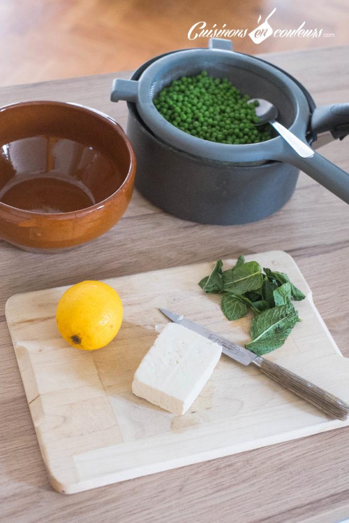 Salade-de-petits-pois-683x1024 - Salade de petits pois à la feta, zestes de citron et menthe