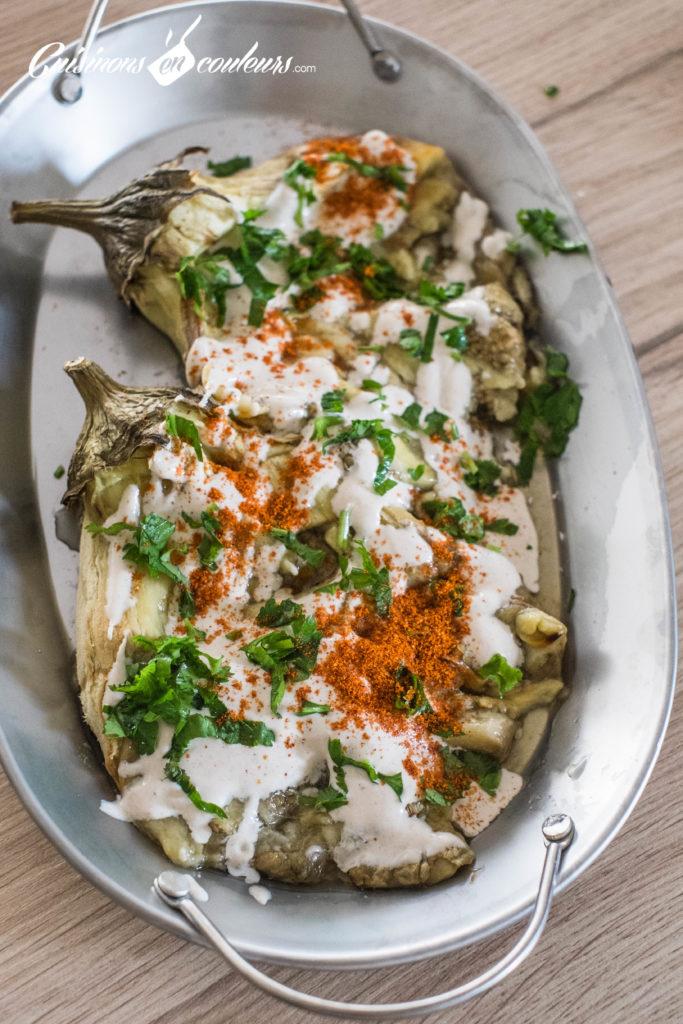aubergines-roties-tahine-6-1-683x1024 - Aubergines rôties, sauce au tahiné