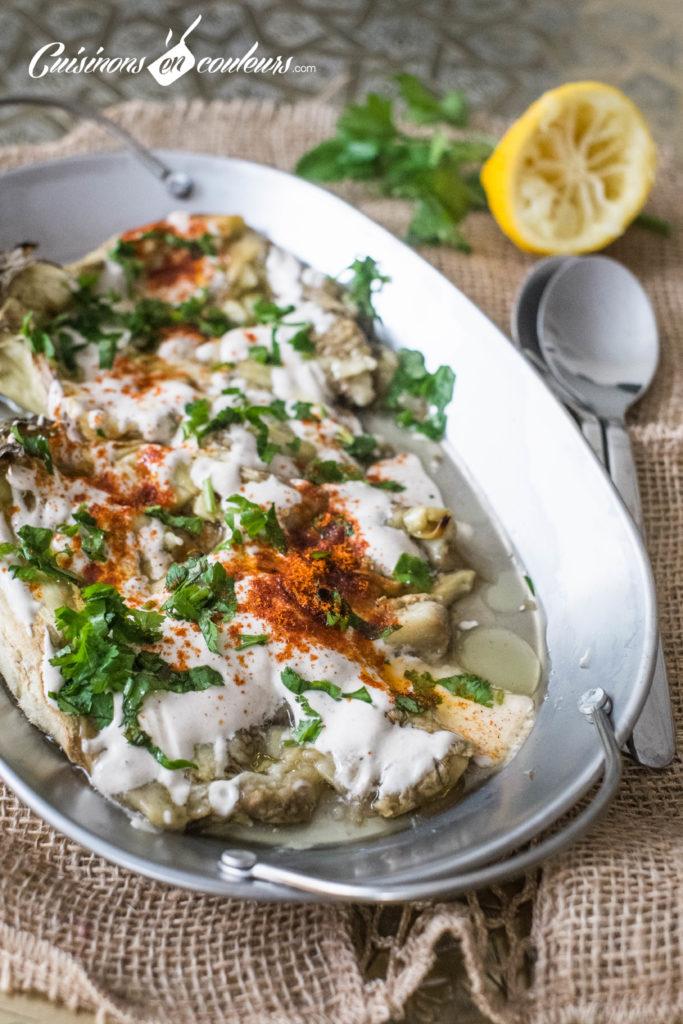 aubergines-roties-tahine-7-683x1024 - Aubergines rôties, sauce au tahiné