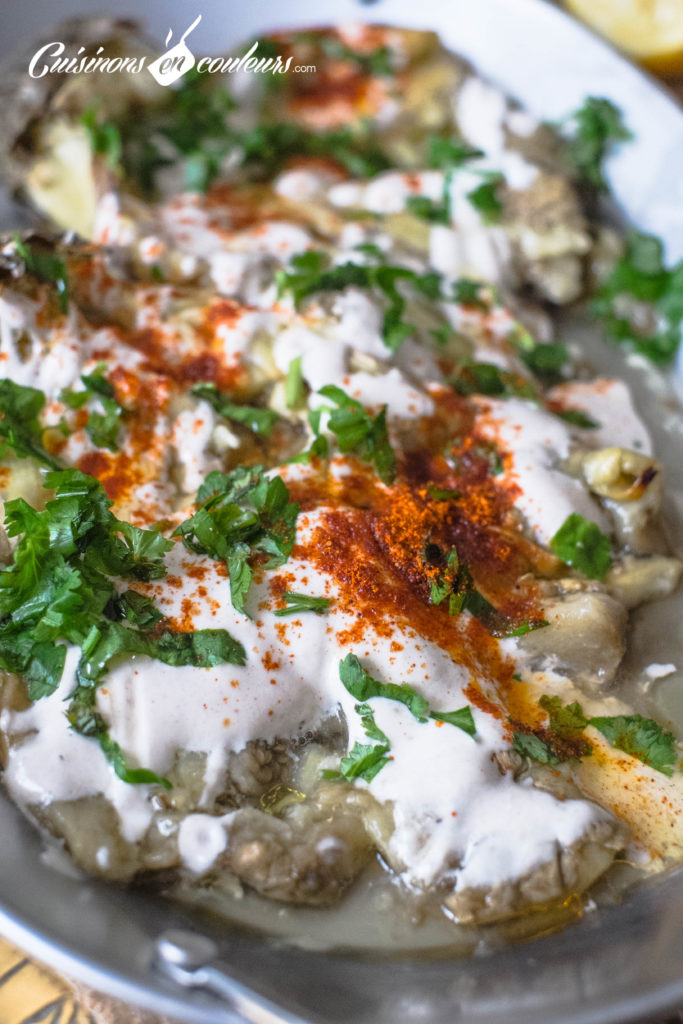 aubergines-roties-tahine-9-683x1024 - Aubergines rôties, sauce au tahiné