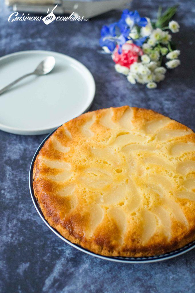 gateau-renverse-poire-7-683x1024 - Gâteau renversé aux poires