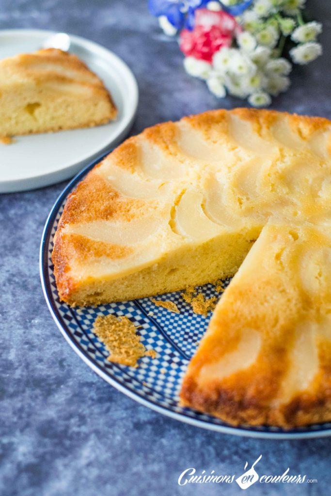 gateau-renverse-poire-9-683x1024 - Gâteau renversé aux poires