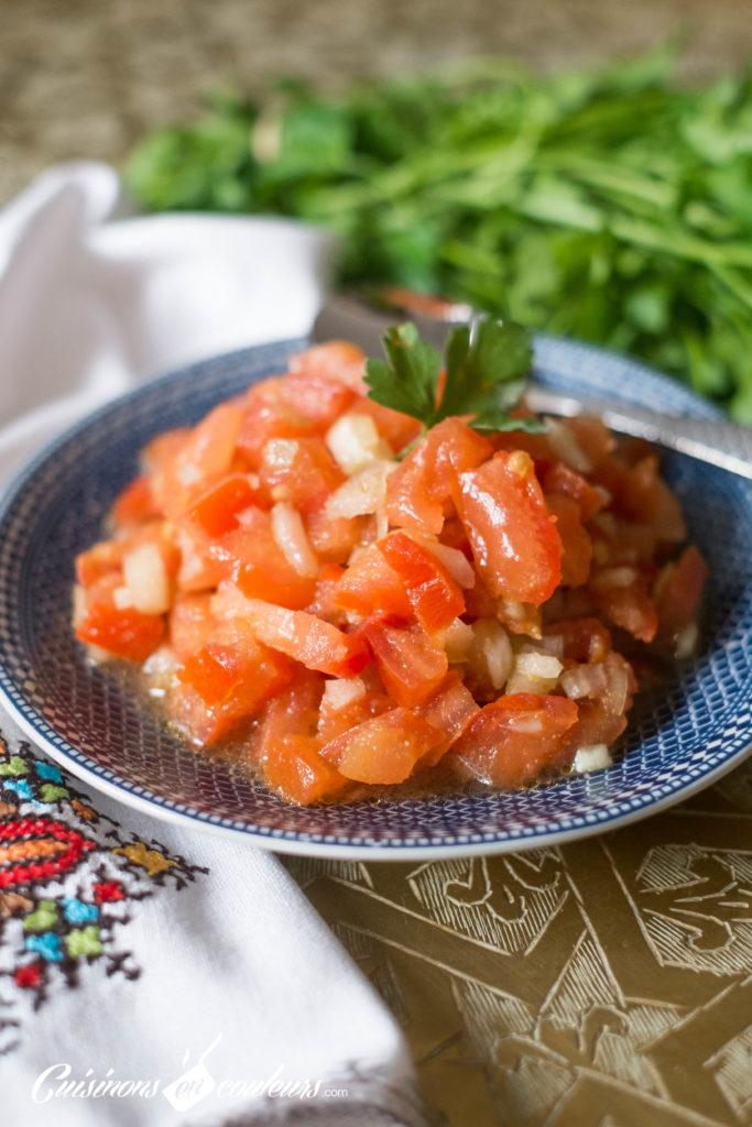 salade-marocaine-2-683x1024 - Salade marocaine aux tomates et oignon