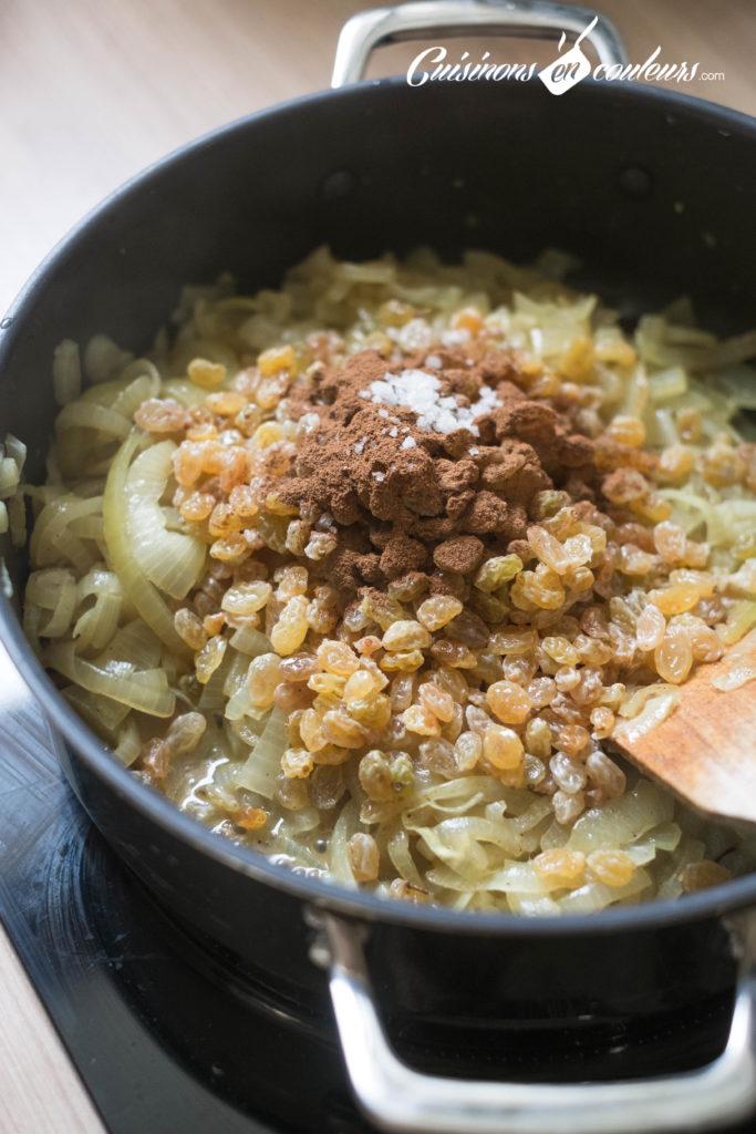 Couscous-Tfaya-7-683x1024 - Couscous au poulet et tfaya (confit d'oignons et raisins secs caramélisés)