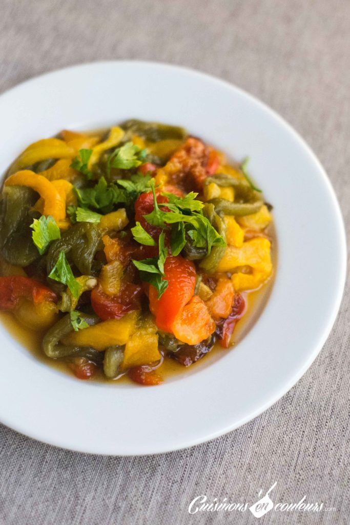 salade-de-poivrons-5-683x1024 - Top 15 des salades marocaines
