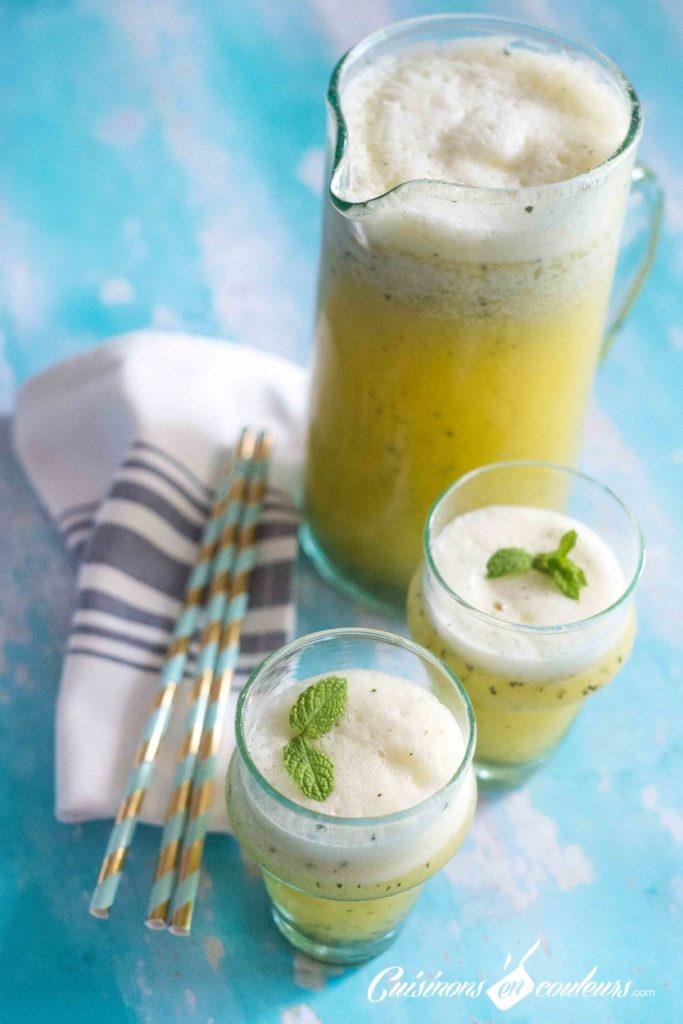 smoothie-ananas-menthe-4-683x1024 - Smoothie ananas et menthe au Companion XL