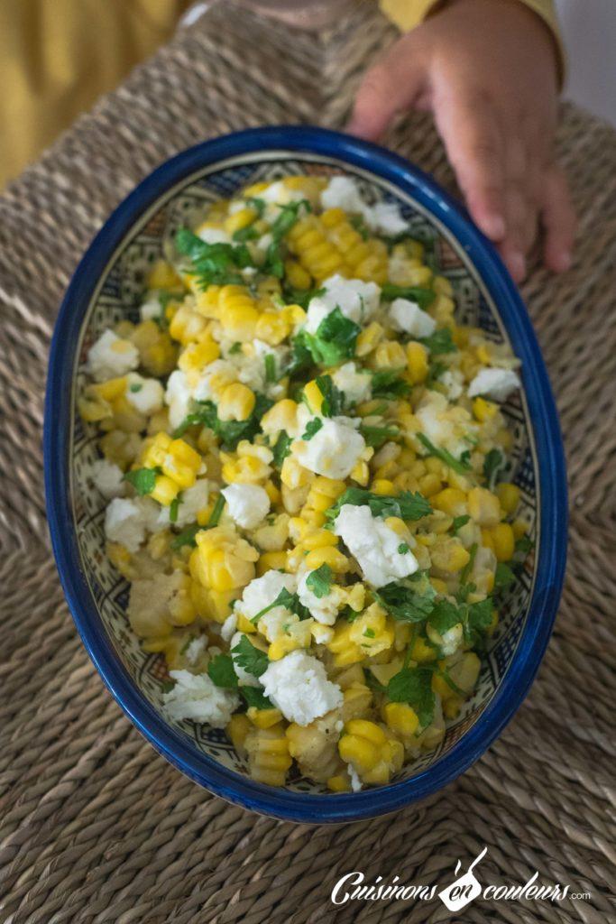 Salade-de-mais-8-683x1024 - Salade de maïs à la feta et à la coriandre
