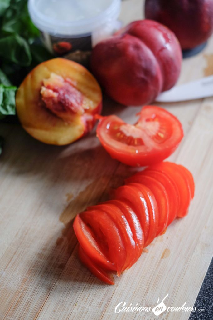 burrata-nectarine-2-683x1024 - Salade de nectarines, tomates et burrata