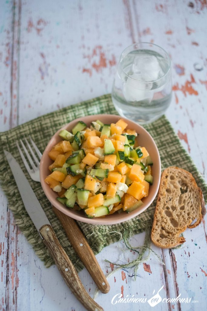 salade-melon-feta-3-683x1024 - Salade de melon à la feta
