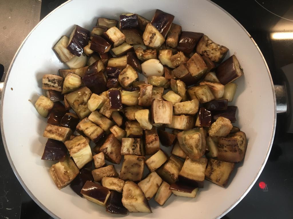 salade-roquette-5-1024x768 - Salade d'aubergines, roquette et graines de sésame