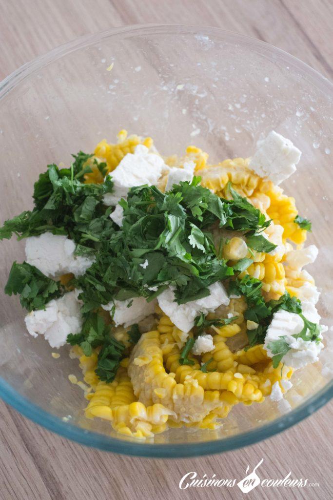 Salade-de-mais-3-683x1024 - Salade de maïs à la feta et à la coriandre