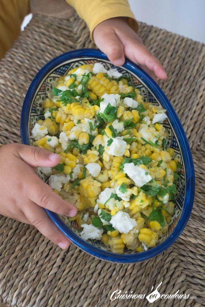 Salade-de-mais-6-683x1024 - Salade de maïs à la feta et à la coriandre