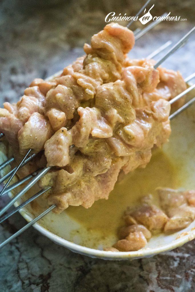 brochettes-poulet-cannelle-3-683x1024 - Brochettes de poulet au yaourt et aux épices