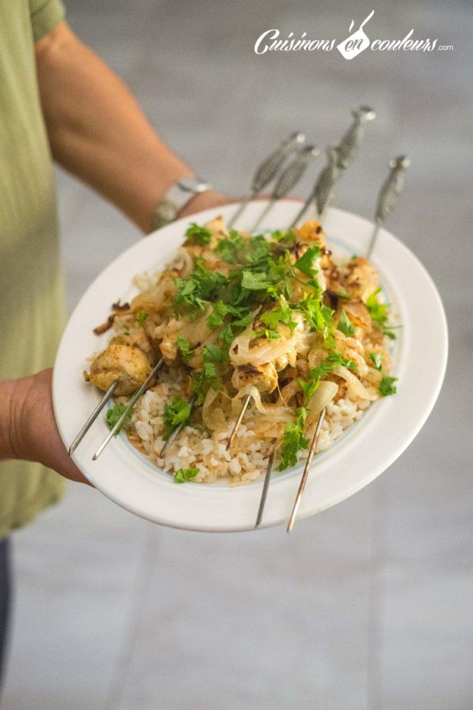brochettes-poulet-cannelle-7-683x1024 - Brochettes de poulet au yaourt et aux épices