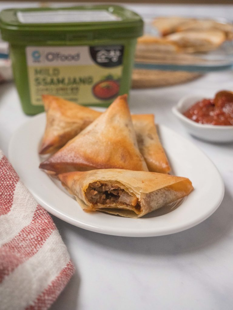 Briouates-viande-hachee-ssamjang-6-768x1024 - Briouates à la viande hachée et à la sauce Ssamjang