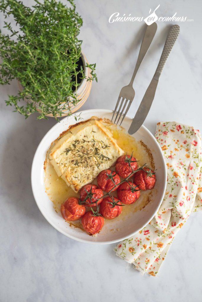 Feta-rôtie-2-683x1024 - Feta et tomates rôtis au thym