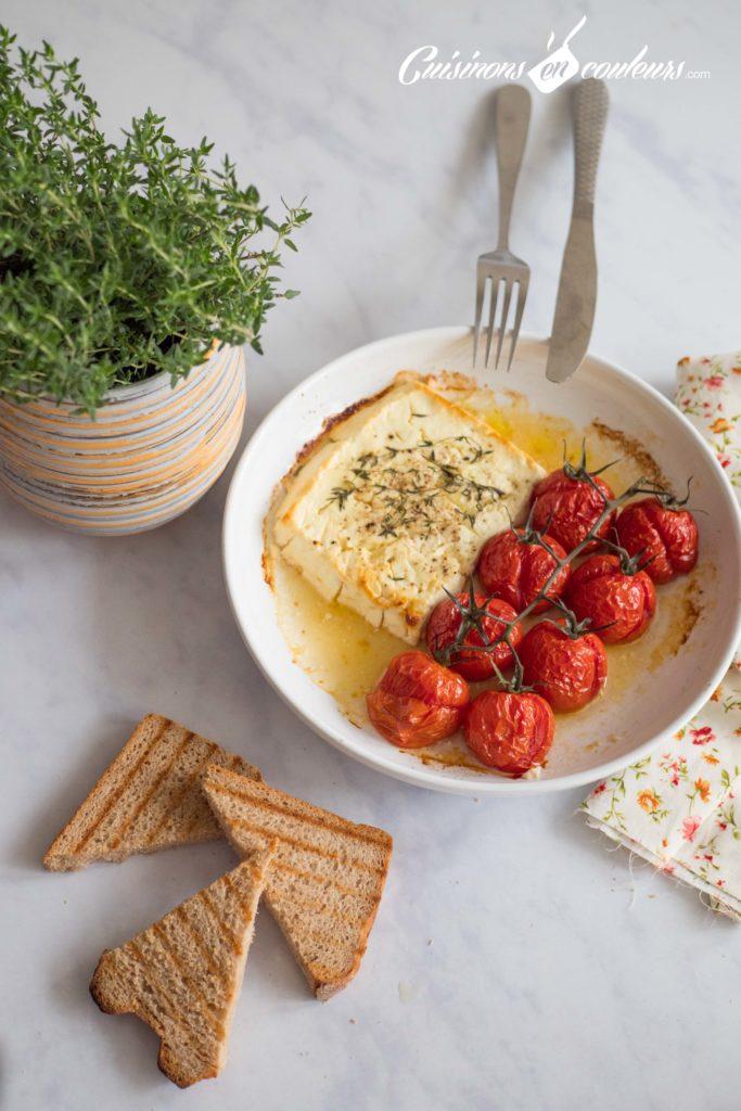 Feta-rôtie-3-683x1024 - Feta et tomates rôtis au thym