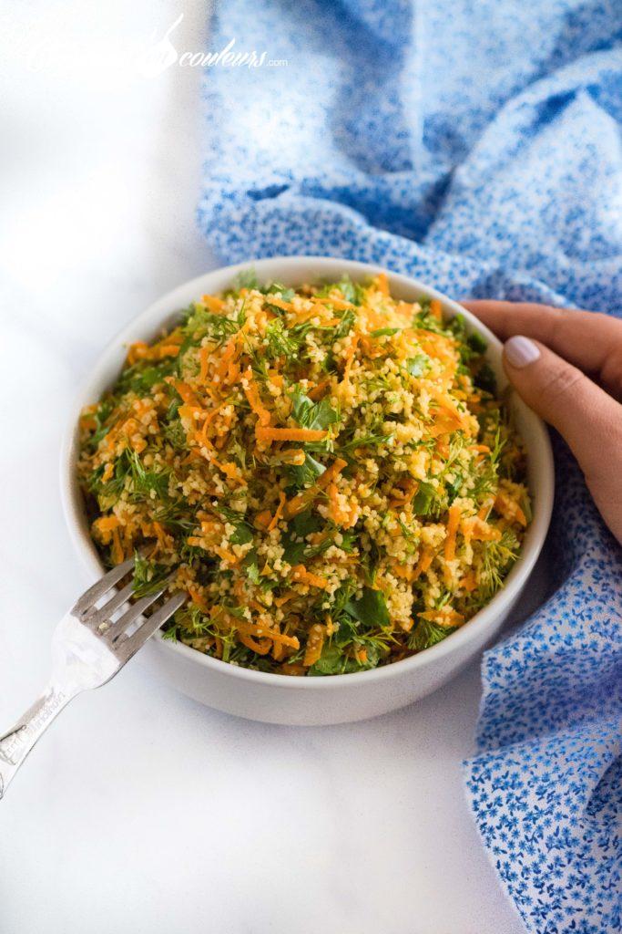 Taboulé-aux-carottes-3-683x1024 - Salade de couscous aux carottes et aux herbes