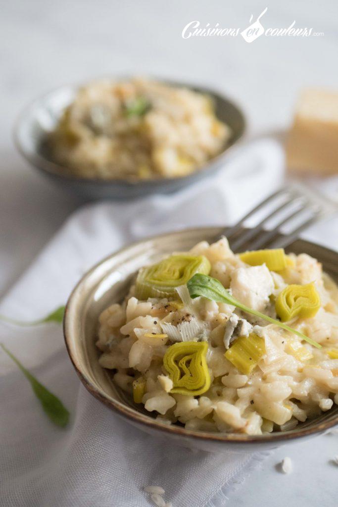 risotto-poireaux-2-683x1024 - Risotto aux poireaux et au gorgonzola