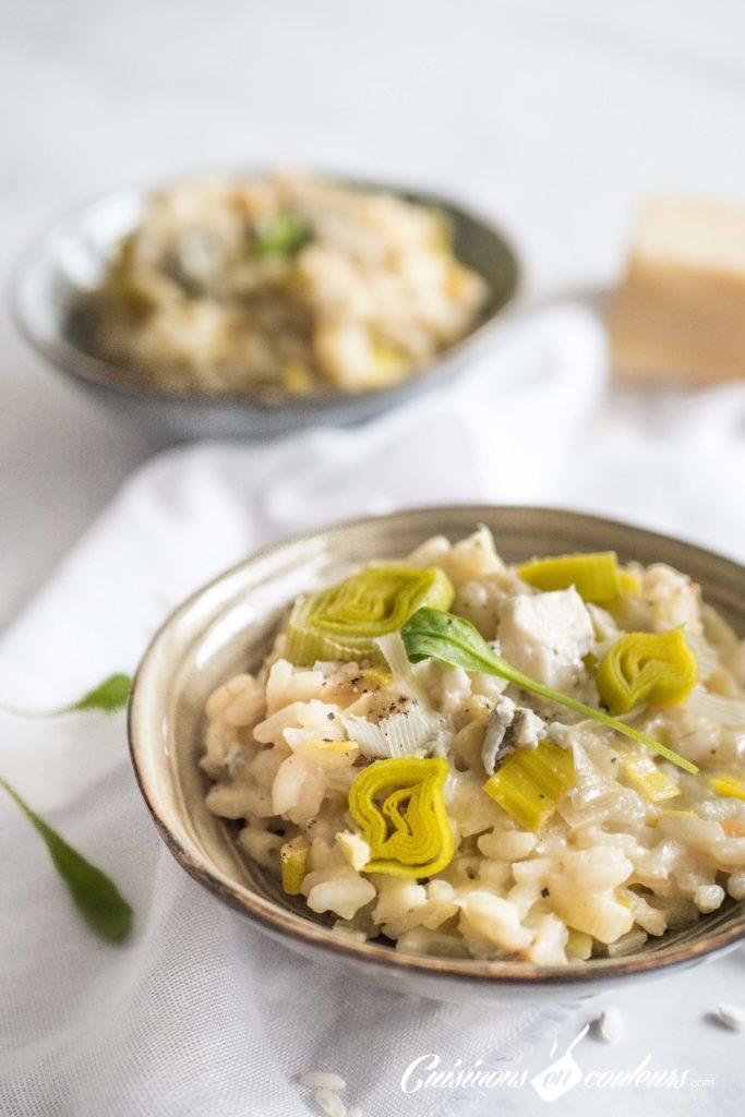 risotto-poireaux-683x1024 - Risotto aux poireaux et au gorgonzola