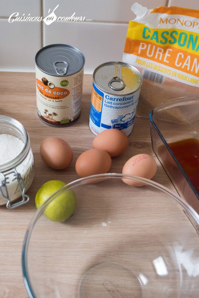 Flan-coco-et-citron-vert-683x1024 - Crème caramel au citron vert et à la noix de coco