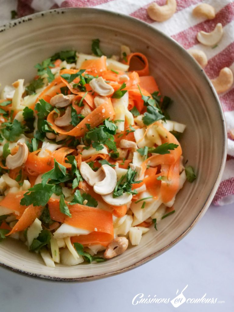 Salade-carottes-chou-4-768x1024 - Salade de carottes, chou blanc et noix de cajou