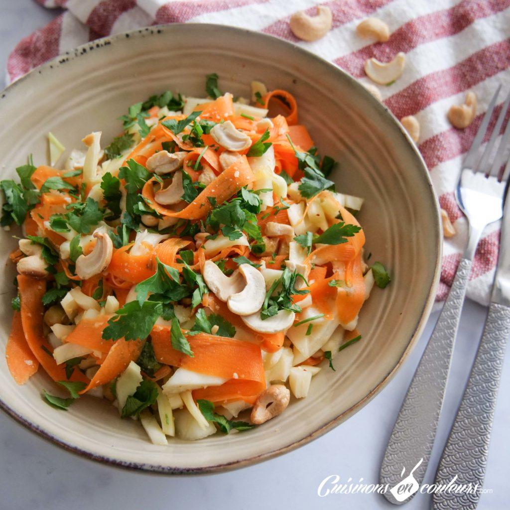 Salade-carottes-chou-5-1024x1024 - Salade de carottes, chou blanc et noix de cajou