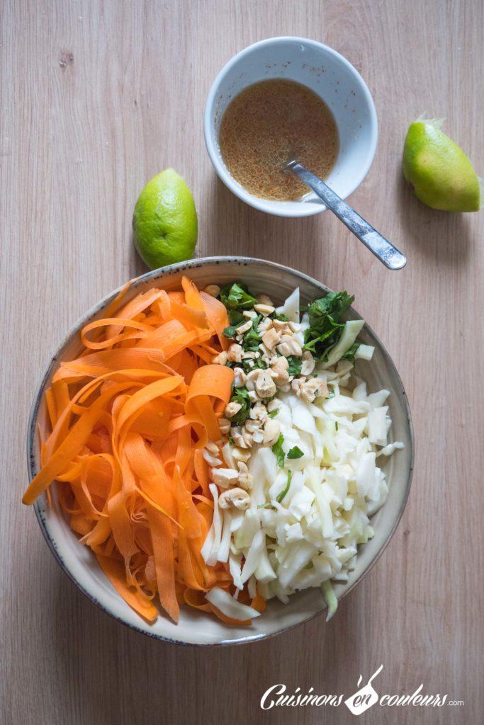 Salade-carottes-chou-683x1024 - Salade de carottes, chou blanc et noix de cajou